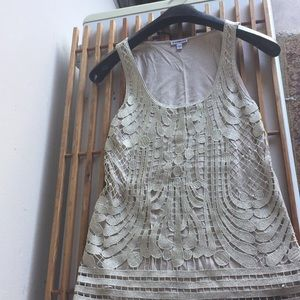 Express Tank Top with lace overlay on the front